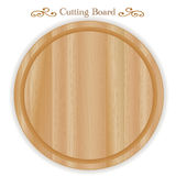 Wood Cutting Board, Round Stock Photos