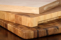 Wood cutting boards royalty free stock photography