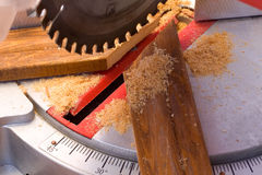 Wood cutting circular saw Stock Photos