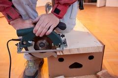 Wood cutting Royalty Free Stock Photos