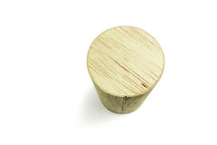 Wood cylinder block Royalty Free Stock Photography