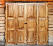 Wood dörr Royaltyfri Fotografi