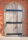Wood dörr Arkivbilder