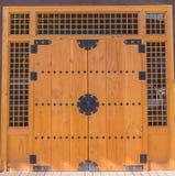 Wood dörr Fotografering för Bildbyråer
