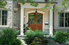 wood dörrar Royaltyfri Fotografi
