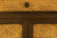 Wood dörrhandtag Fotografering för Bildbyråer