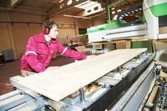 Wood dörrtillverkning för snickeri Arkivbild