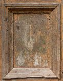 Wood damaged frame. On the ouside doors Stock Photo