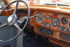 Wood dashboard Stock Photo