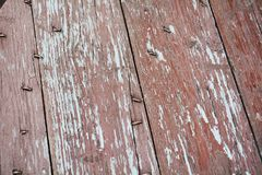 Wood decaying pink brown vintage abstract background and texture Stock Photo