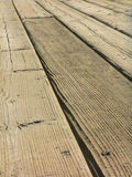 Wood Deck. Closeup of wooden deck planks Stock Image