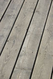 Wood Deck. Grey wood deck royalty free stock images