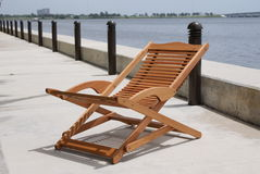 Deck Chair on promenade Royalty Free Stock Photo
