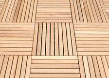 Wood deck panel floor background Stock Image
