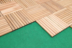 Wood deck panel floor background Stock Images