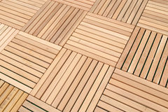 Wood deck panel floor background Royalty Free Stock Image