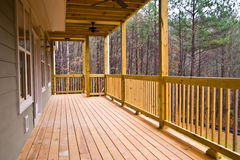Wood Deck/Porch on House Stock Photography