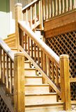 Wood deck steps Royalty Free Stock Photography