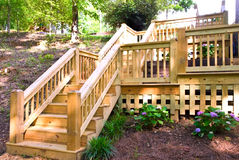 Wood Deck Steps Stock Images