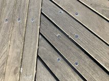 Wood deck. A wood deck side walk royalty free stock image