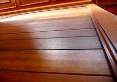 Wood decking. Close up of some wood decking Royalty Free Stock Images