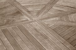Wood Decking With A Design Royalty Free Stock Photography