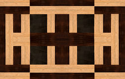 Wood design with Ebony, Rosewood and Ramin Royalty Free Stock Images