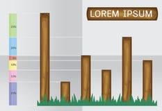 Wood design element Stock Image