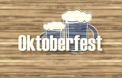 Wood design för Bayern Oktoberfest flagga royaltyfri fotografi