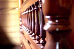 Wood design för thailändsk tappning royaltyfri foto