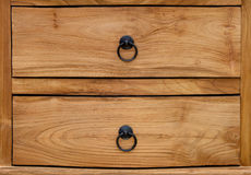 Wood desk drawer Stock Photos