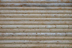 Wood. Detail of cabin wall made from beam logs Royalty Free Stock Photography