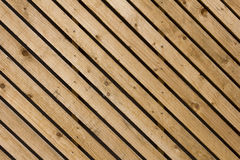 Wood diagonal panelling Stock Image