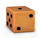 Wood dice Royalty Free Stock Image