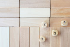 Wood dices on the puzzle wood Stock Images