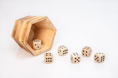 Wood dices Royalty Free Stock Photos