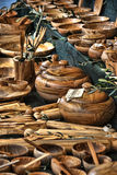 Wood Dishes, Lucca, Italy Royalty Free Stock Photos