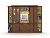 Wood display cabinet Stock Images