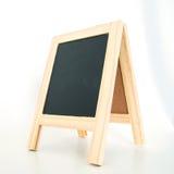 Wood display chalkboard Royalty Free Stock Image