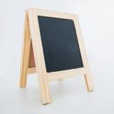 Wood display chalkboard Stock Photos