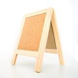Wood display corkboard Stock Photo