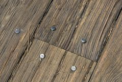 Wood Dock Planks Royalty Free Stock Photography