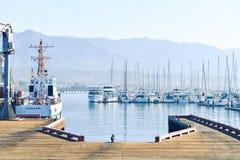 Wood docks pier port harbor Stock Images