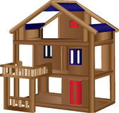 Wood doll house Royalty Free Stock Photo