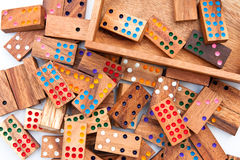 Wood domino. Royalty Free Stock Photos