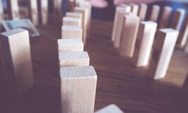 Wood domino blocks