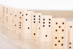 Wood domino pieces Royalty Free Stock Photography