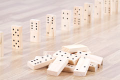 Wood domino Stock Photo