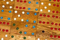 Wood dominoes and numbers royalty free stock photo