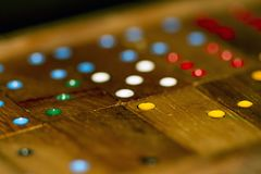 Wood dominoes and numbers royalty free stock photography